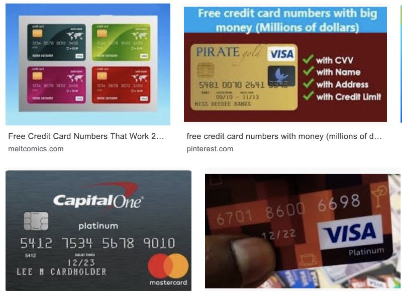 What You Need To Know To Get Free Credit Card Numbers