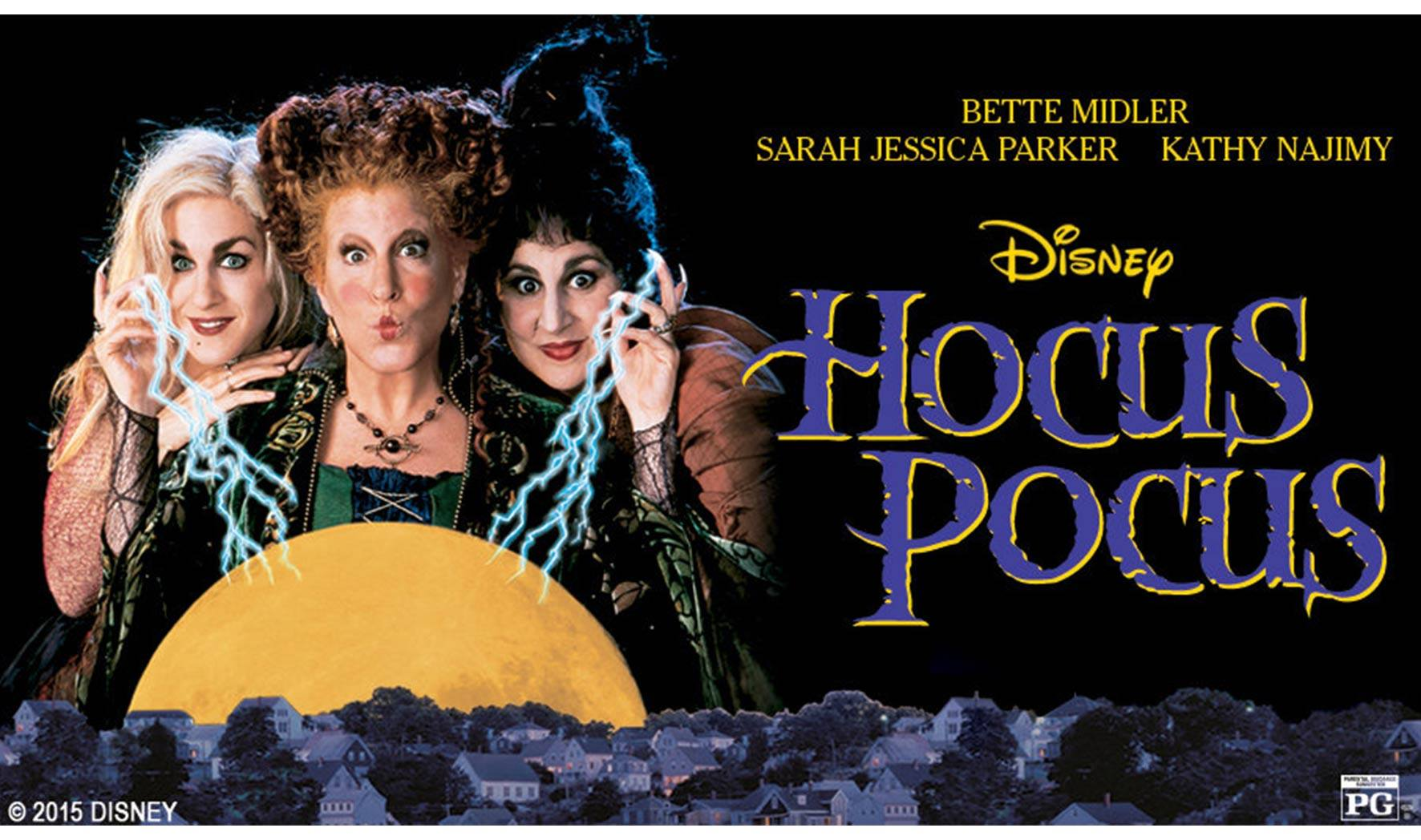 This is the cover for the cult movie hocus pocus part 1.