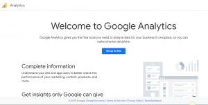 A case of Google Analytics