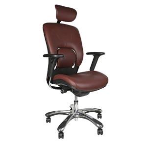 GM Seating Ergolux Genuine Leather Chair