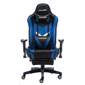WENSIX Gaming Chair with Lumbar Support and Footrest