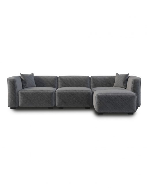 The images shows a small sectional sofa which is the best for your house or office.