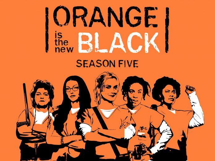 This is the cover of the Orange is the New Black Season 5