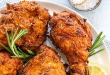 The image shows one of the delicious quick and easy chicken recipes