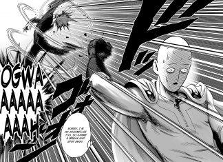 One punch man manga cover poster