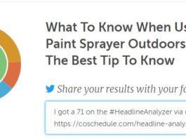 paint sprayer outdoors