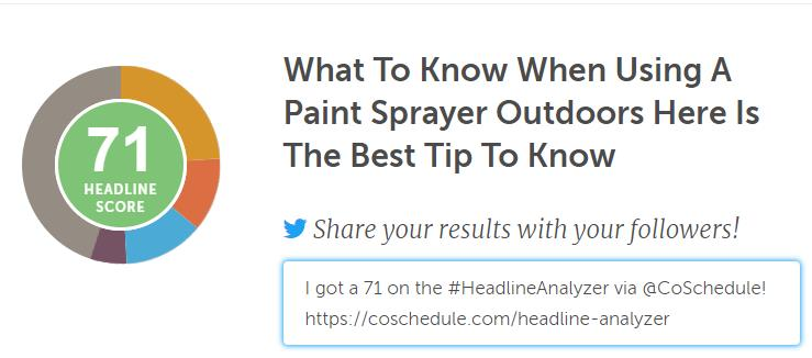 paint sprayer outdoors
