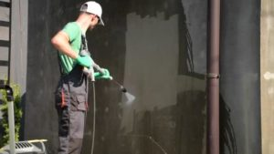Clean the walls before spray painting