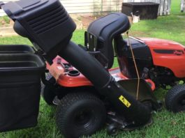 grass catcher for riding mower