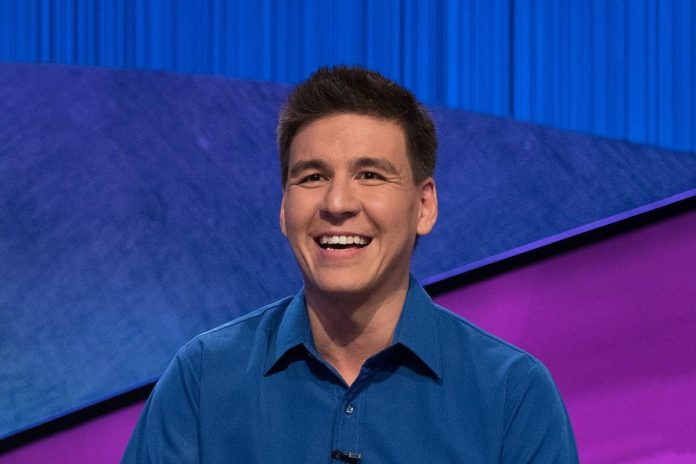 Picture of James Holzhauer during the game show