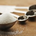 image shows the teaspoons and tablespoons with sugar
