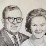 Handmade gifts like charcoal portrait painting will make a lifelong