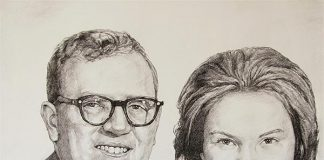Handmade gifts like charcoal portrait painting will make a lifelong